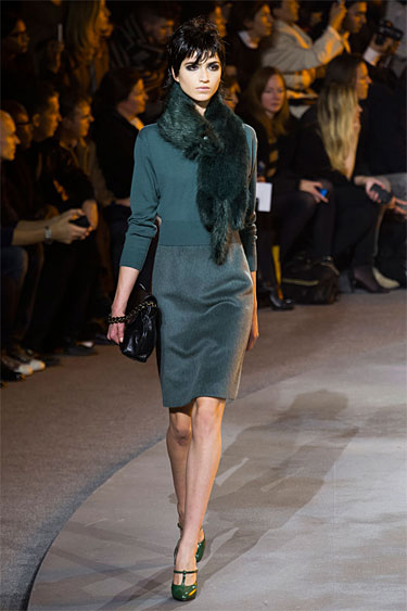 Marc-Jacobs-Fall_2013 green skirt and sweater
