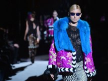 Bold colored furs made a strong statement