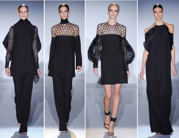 Added textures and sheer fabrics to black