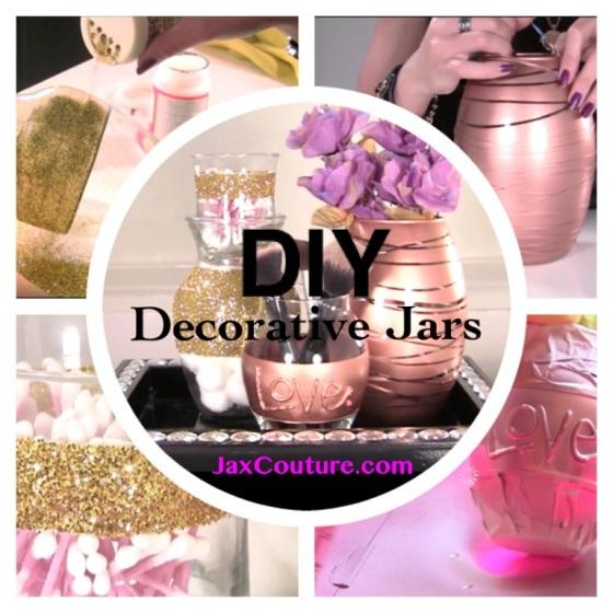 DIY vanity table accessories jars and vases