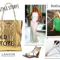 {Jax Style Story} Pairing The Gold Finger Lanvin Tote Bag