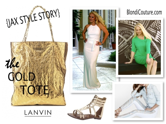 Lanvin gold tote lookbook blondi couture
