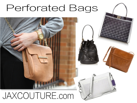 2014 Spring Fall Fashion Trends Perforated Bags