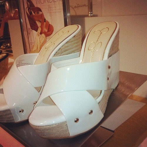 shiny leather mules JessicaSimpson