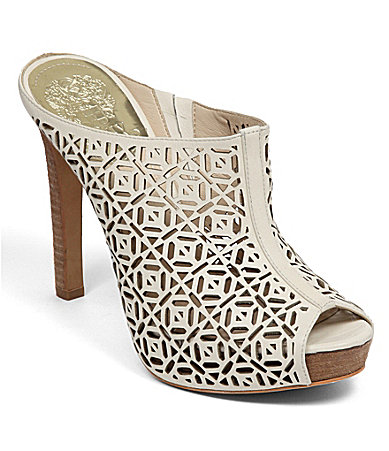 Vince Camuto Jaso Laser-Cut Perforated Mules
